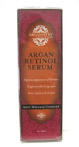 Arganistry Natural Argan Retinol Face Serum Anti-wrinkle Complex 1oz / 30ml Perricone MD Acyl-Glutathione Eye Lid Serum, 0.5 fl. oz.