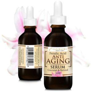 Anti Aging Facial Serum - Retinol + Ferulic Acid + Virgin Coconut Oil